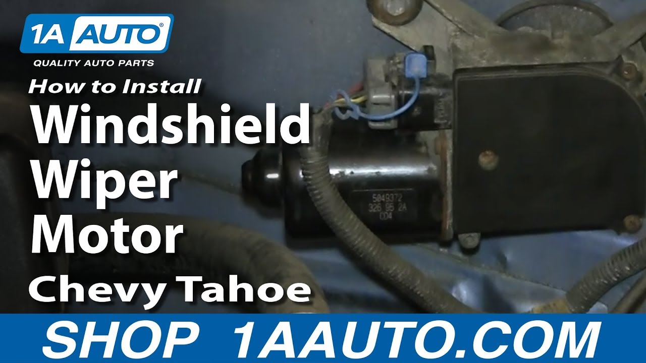 How To Install Replace Windshield Wiper Motor 199599 Chevy Tahoe GMC Yukon  YouTube