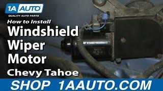How To Install Replace Windshield Wiper Motor 1995-99 Chevy Tahoe GMC Yukon