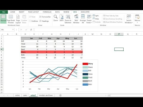 how to create multi series chart in excel