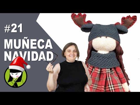 muñeca navideña en forma de reno 21 amigurumis de navidad