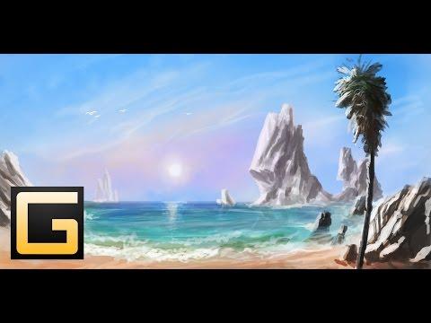 beach-speed painting (#photoshop)