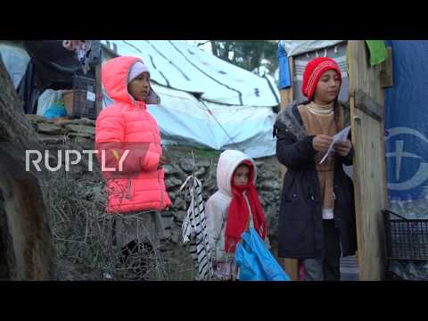 "Greece: Refugees face ""difficult and dramatic"" winter in overcrowded Lesbos camp"