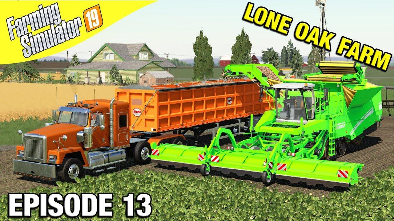 HUGE BEET FIELD HARVEST Farming Simulator 19 – Lone Oak Farm with Daggerwin Ep 13