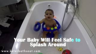 Keter Baby BathTub Ring Seat - Turn Bath Time Into Fun Time