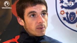 "Leighton Baines ""the team are buzzing and can't wait to get to Brazil"" post match England vs Poland"