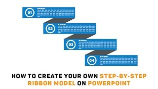Powerpoint Tutorial: How to Create Your Own Step By Step Ribbon Model On Powerpoint