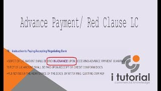 advance payment letter of credit in Bangla. red clause Letter of Credit in bangla. letter of creditD