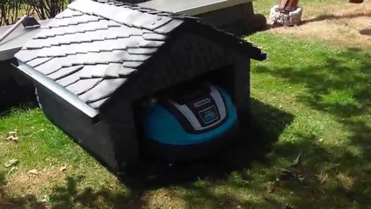 Mhroboter Garage aus Schiefer fr Gardena R70Li Lawn