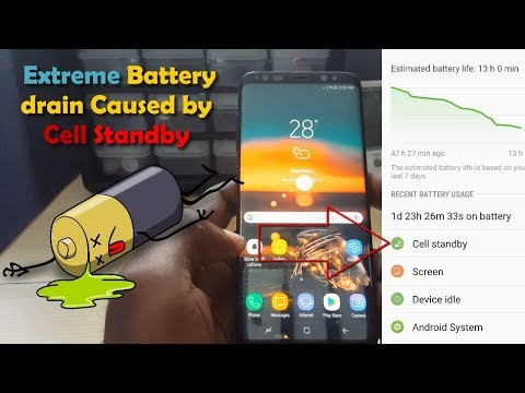 Fix Severe battery drain caused by Cell standby Samsung Galaxy S8,S7,S6 and  more