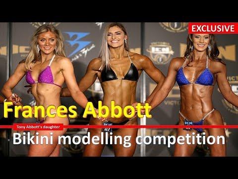 Frances Abbott  bikini modeling compitation