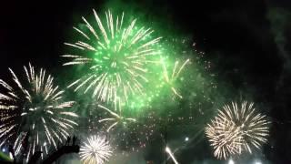 Bouquet final feux d'artifices Genève 9 Aout 2015