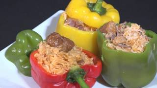 Cuban Cuisine: Peppers Stuffed With Yellow Rice