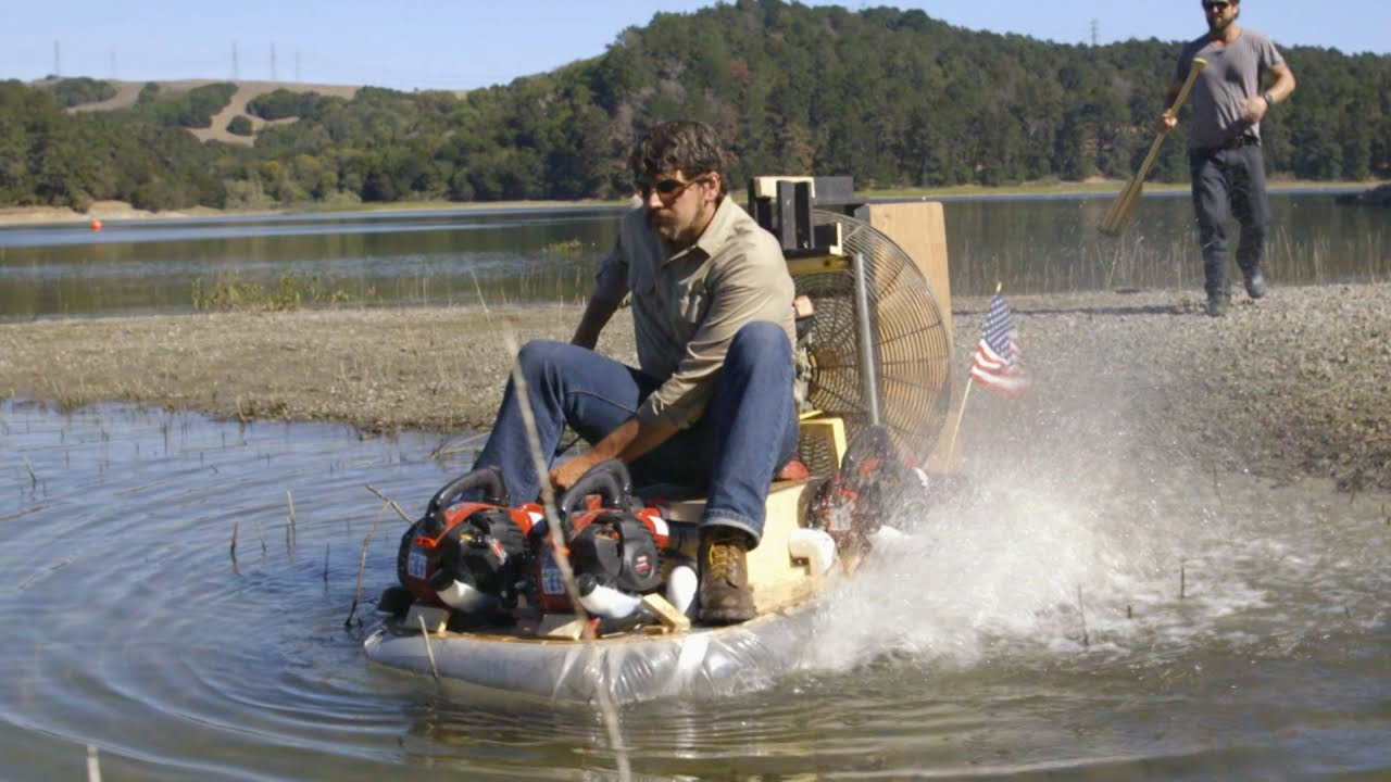Leaf Blower Hovercraft Steering