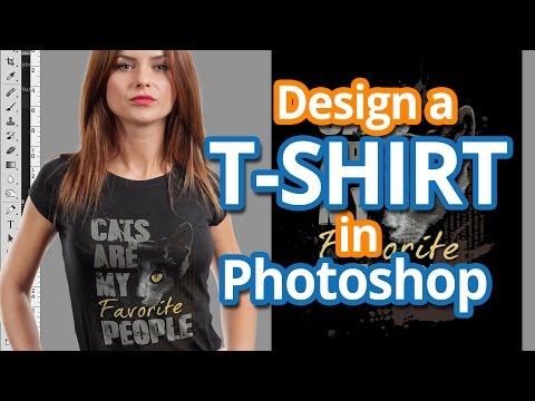 09b7c80b2 How To Design a T-shirt in Photoshop - Full Color T-shirt Design Tutorial -  YouTube