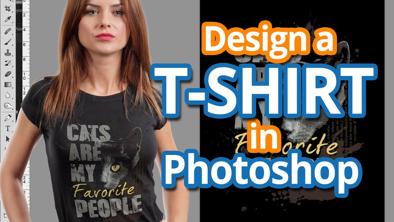Learn How To Design T Shirts In Photoshop: How To Design a T-shirt in Photoshop - Full Color T-shirt Design rh:youtube.com,Design
