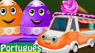 Ovos Surpresa com brinquedos - Veículos utilitários para crianças   ChuChuTV