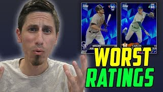 WORST RATINGS IN MLB THE SHOW 18
