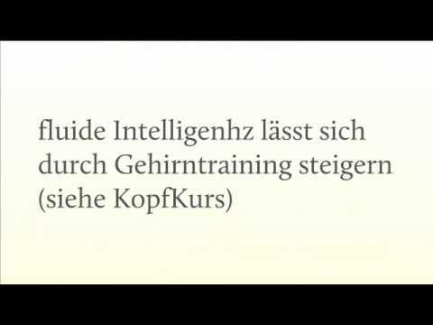 Fluide Intelligenz - Definition & Training