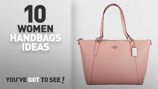 Top 10 Coach Pink Handbag [ Winter 2018 ]: Coach Crossgrain Leather Ava Tote F57526 Blush