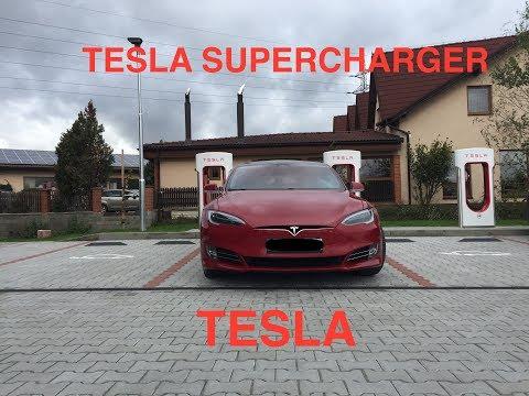 Tesla Supercharger Vestec u Prahy