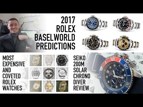 The Best $250 Chronograph Diver - Seiko SSC019 Review - Most Coveted Rolex Models & 2017 Predictions