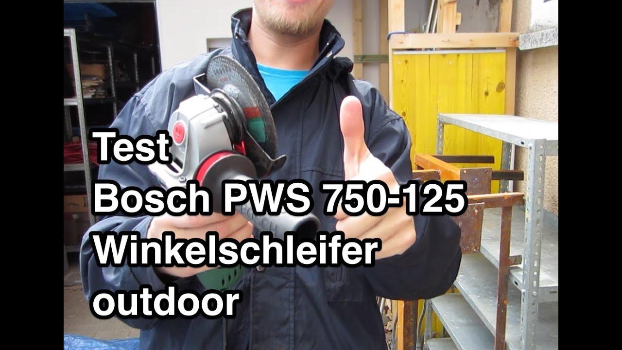 test bosch pws 750 125 winkelschleifer outdoor. Black Bedroom Furniture Sets. Home Design Ideas