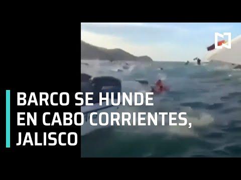 Barco se hunde en Cabo Corrientes Jalisco - Las Noticias