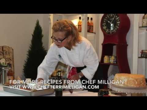 Edible Door Magazine and Chef Terri Milligan How to make Stuffed Winter Squash Cooking Demo
