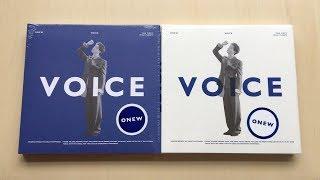 Baixar ♡Unboxing Onew 온유 1st Mini Album VOICE 보이스 (Blue & White Ver.)♡