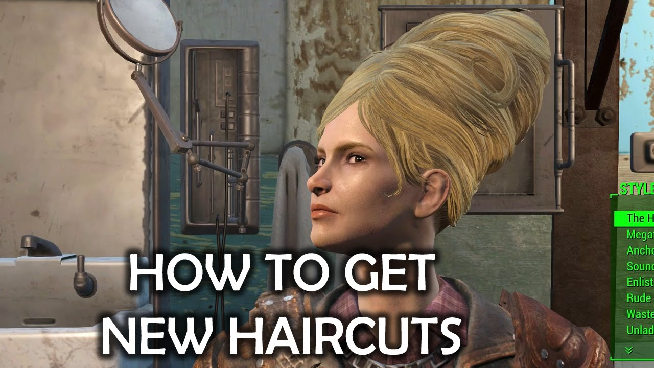 Fallout 4 How To Get New Haircuts Youtube