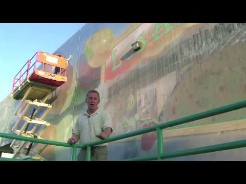Mural Art Conservation of Los Angeles Produce Market Monumental Murals - Preview