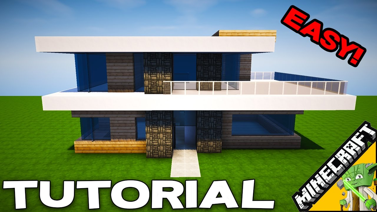 minecraft simple modern house tutorial how to build easy in minecraft series youtube