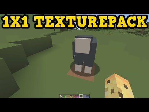 THE LOWEST RESOLUTION MINECRAFT CAN BE (1x1)