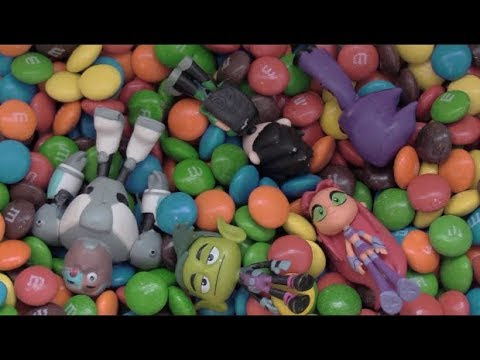 Teen Titans Go! Jump into a Bowl of Candy M&Ms YUMMY!!