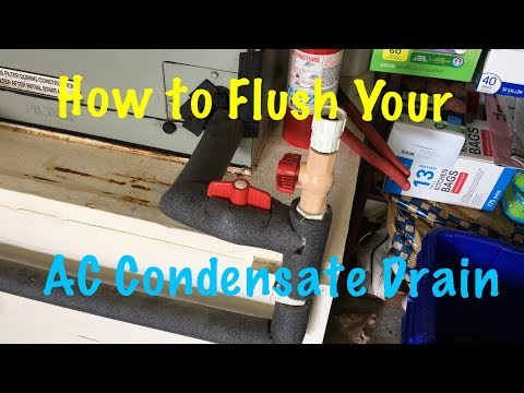 Flushing Our Air Conditioner Condensate Drain...A Simple Modification