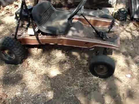 Rer Rider Mower Go Kart Project Youtube