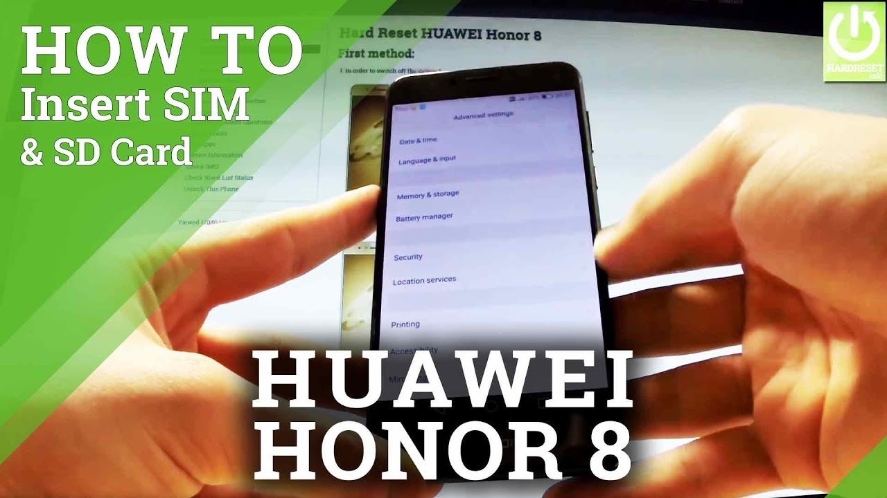 Honor 8 Sim Karte.How To Insert Sim Sd In Huawei Honor 8 Install Sim Card