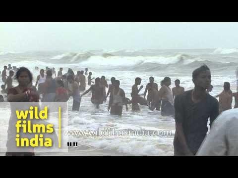Frolicking at Puri Beach - Odisha