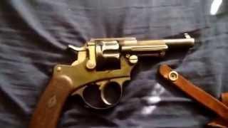French 1874 11mm Officer Model Chamelot Delvigne military revolver.