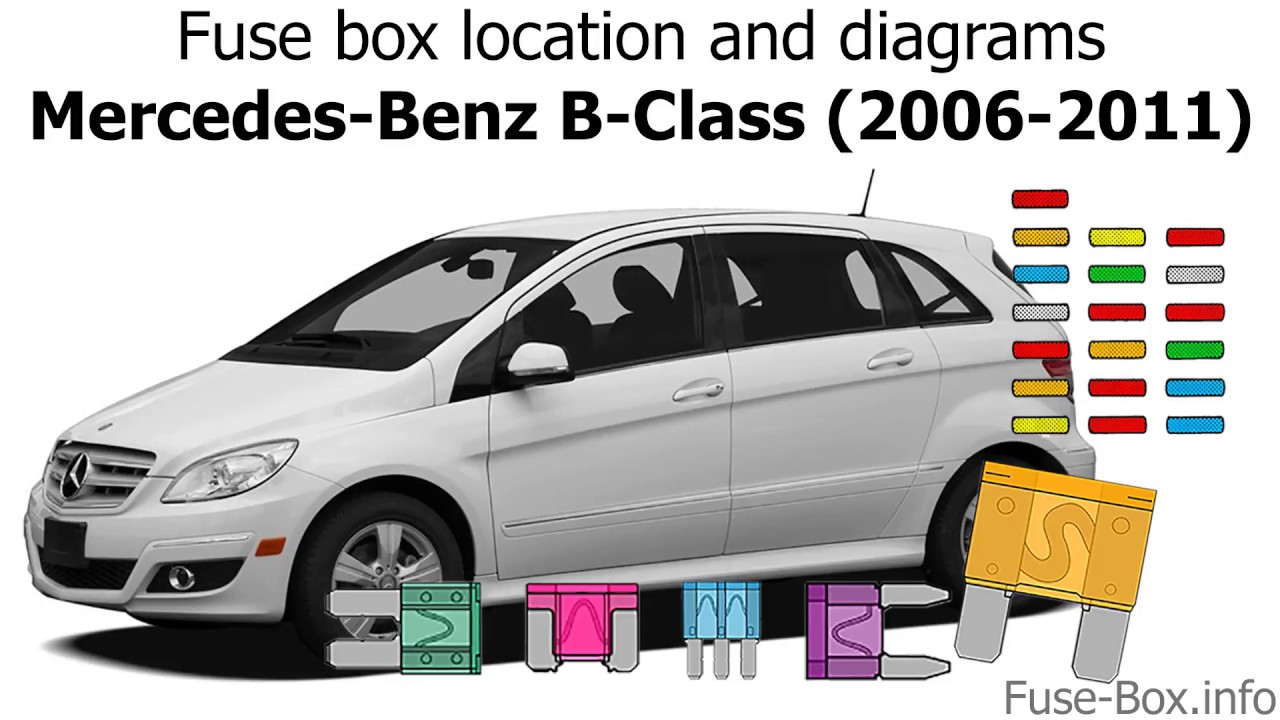fuse box location and diagrams: mercedes-benz b-class (2006-2011)