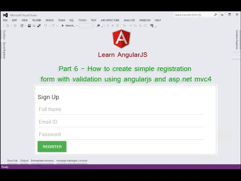 login and registration form in asp.net mvc 4