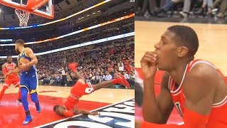 Kris Dunn Injury - Breaks His Teeth After Taking Scary Hard Fall on His Face! Warriors vs Bulls