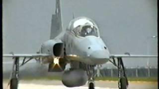 """EXCERCISE """"NOMAD"""" SWISS MIRAGE 3  & F5 1993 RAF WADDINGTON"""