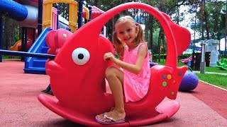 Outdoor Playground for kids Funny Baby Playing Family Fun Play Area Entertainment for children