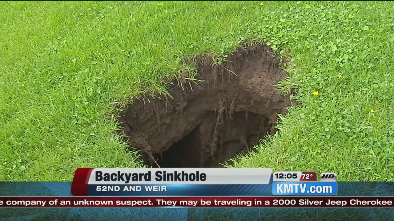omaha homeowners discover sinkhole in backyard youtube