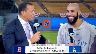David Price interview on winning the 2018 World Series in game 5