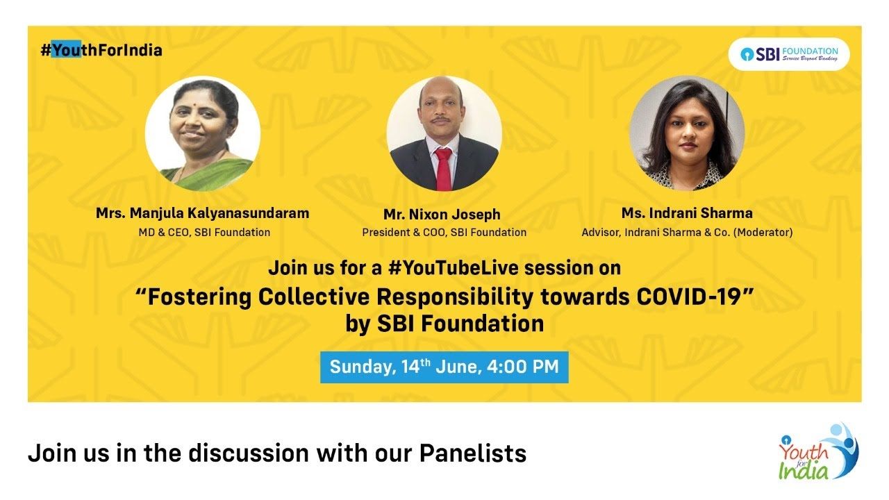 Fostering Collective Responsibility towards COVID-19 with #SBIFoundation Leadership