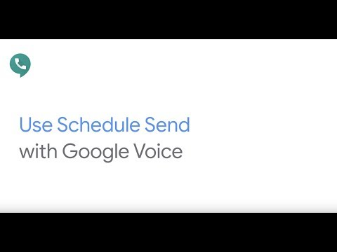 How To: Schedule send a text in Google Voice