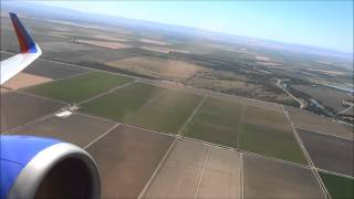 Scenic takeoff from Sacramento (SMF) Southwest Airlines Boeing 737-300 (Winglets)