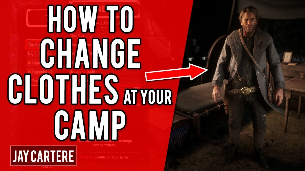 Red Dead Redemption 2 Ps4 Tutorial How To Change Outfits At Your